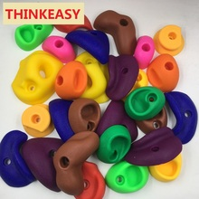 28 & 20 pcs/set Plastic Rock children Climbing toy Wall Kit Stones Kids Toys Sports Hold outdoor game Playground With screw