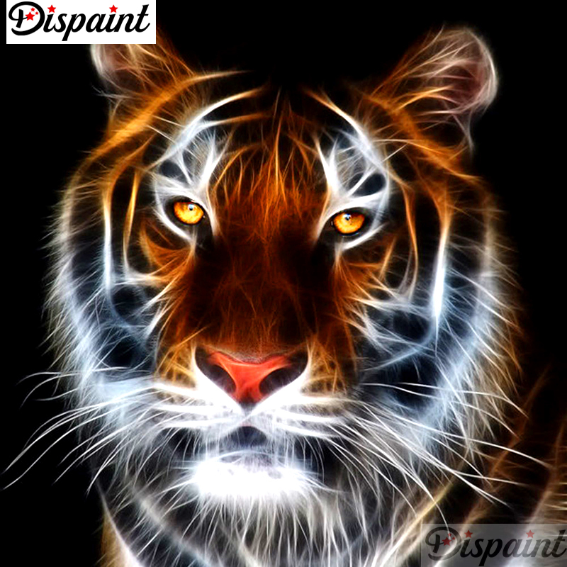 Dispaint Full Square Round Drill 5D DIY Diamond Painting quot Animal tiger scenery quot Embroidery Cross Stitch 3D Home Decor Gift A11463 in Diamond Painting Cross Stitch from Home amp Garden