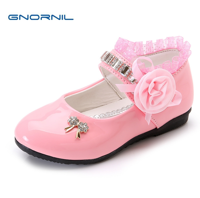 ded0c5d8e Children Shoes Girls Shoes 2018 Spring Fashion Rhinestone Flower Kids Shoes  for Girl Princess Flat Student Dance Show Shoes