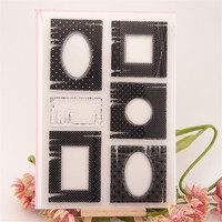 New arrival frame and border design scrapbooking clear stamps christmas gift for DIY paper card kids photo album craft RM-206