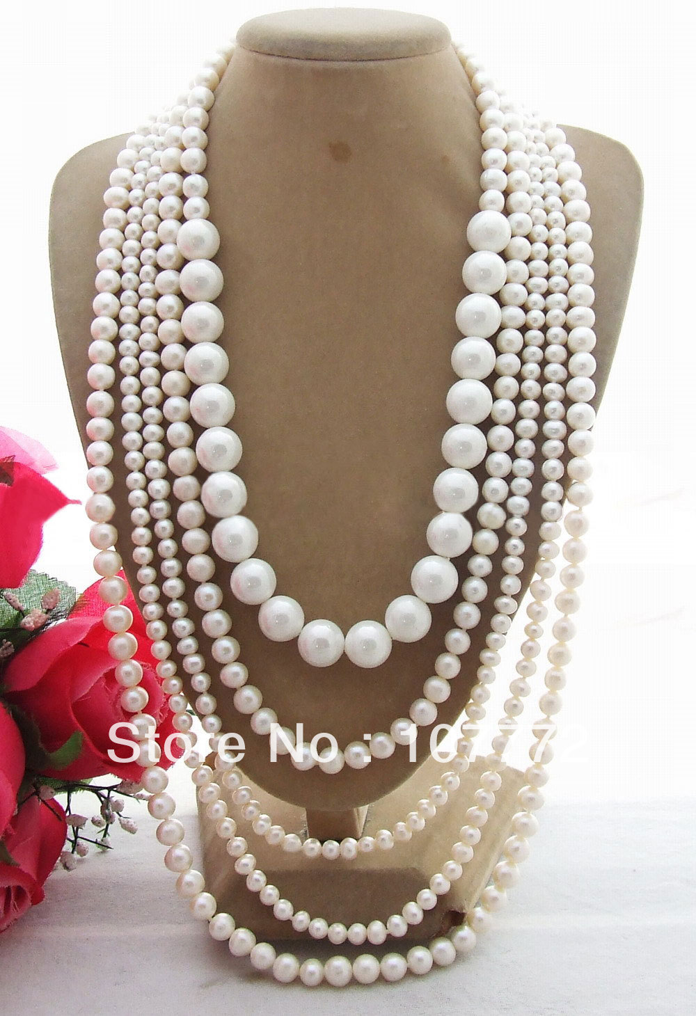 Pearl Sea Shell Pearl Necklace free shipment