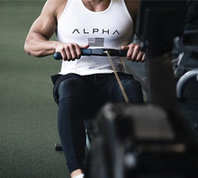 Men Summer gyms Fitness bodybuilding Hooded Tank Top fashion