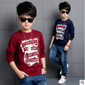 2016 new sports Sweatshirts boy children autumn long sleeve shirt big virgin child letters Kids T-Shirt 3-14 years boys clothes