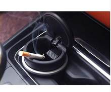Fit For Honda Toyota BMW Audi Interior Cigarette Ashtrays Storage Box Holder Blue LED X1 X3 X5 X6 E70 E71(China)