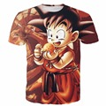 New Arrive Dragon Ball Z Anime t shirt Cute Kid Goku 3D t shirt Men Women Casual Short Sleeve tshirts Harajuku tee shirt tops