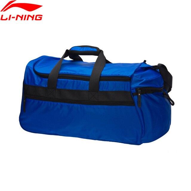 Li-Ning Uomini Formazione Borsone di Nylon Poliestere Tracolla Regolabile  37L Fodera Borsa Sportiva Per 001a3edf28c
