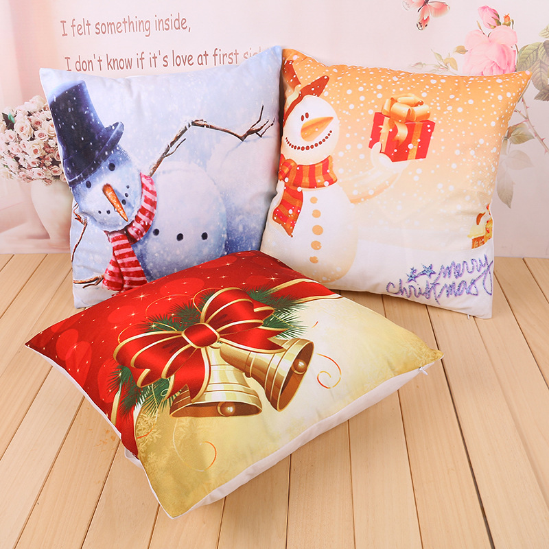 Maiyubo 2016 Christmas Pillow Case Delicate Linen Cushion Cover Merry Christmas Gift for Children Home Car Seat Decoration PC307