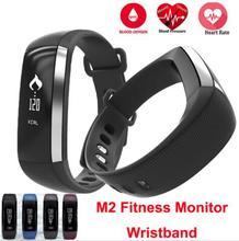 M2 inteligente banda reloj medidor del pulso de presión arterial de muñeca monitor cardíaco rastreador de ejercicios smartband call/sms ios android pulsera mi