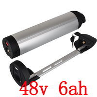 48V 500W Electric bike battery 48V 6Ah Li ion Water Kettle Battery 48V Lithium Battery with 54.6V 2A charger