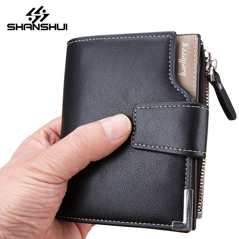 SHANSHUI Wallet Men Leather Men Wallets Purse Short Male Clutch Leather Wallet Mens Money Bag Quality Guarantee Carteira jinbaolai wallet men genuine leather zipper hasp coin purse short male leather men wallets money bag quality guarantee carteira