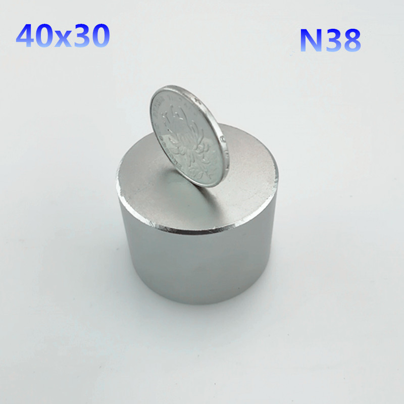 1pc N38 40x30mm hot round magnet 40*30mm Strong magnets Rare Earth Neodymium Magnets 40x30mm powerful permanent magnet qs 3mm216a diy 3mm round neodymium magnets golden 216 pcs