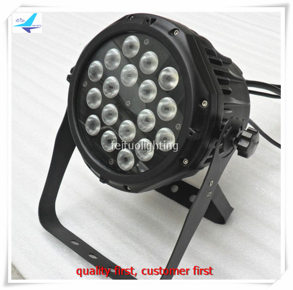 Hot Sell 2pcs/lot IP65 18x10w 4IN1 LED Par Can Light Waterproof RGBW LED Par Wash Stage Light Strobe DMX Disco Party DJ Lighting