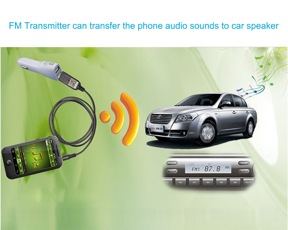 JINSERTA беспроводной fm-передатчик 3,5 мм автомобильный комплект стерео аудио передатчик для наушников ТВ ПК DVD
