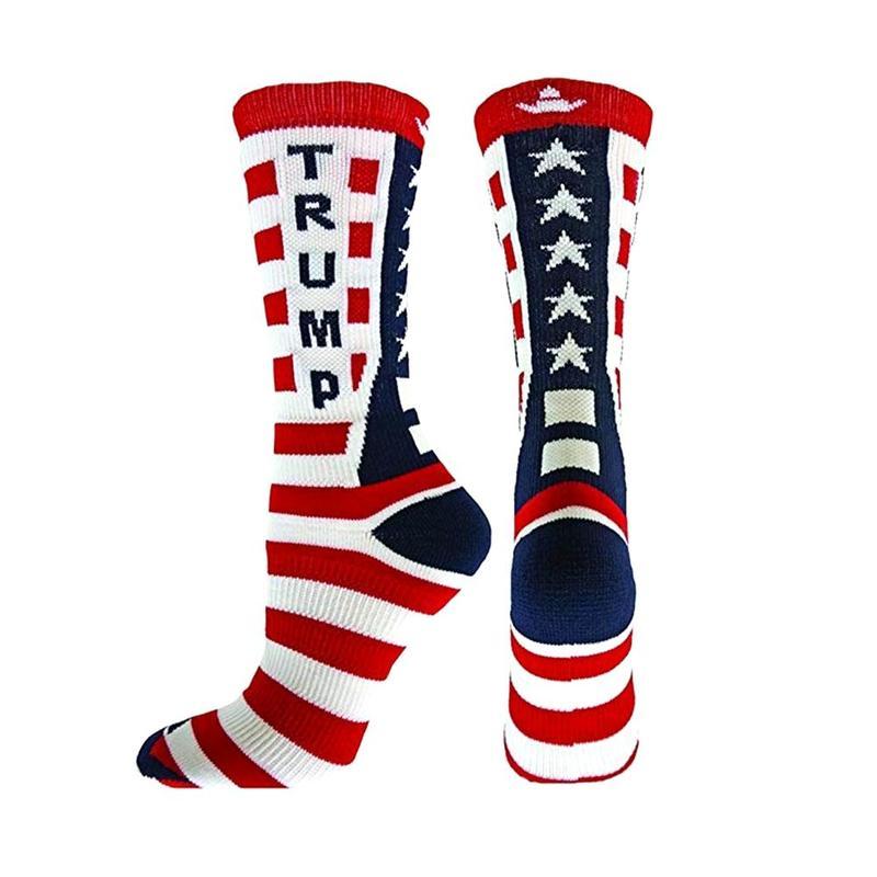 Creative Donald Trump Socks Make America Great Again National Flag Stars Stripes Socks Women Casual Men Short Cotton Socks