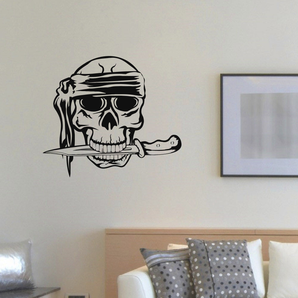 Pirate Ship Wall Sticker Swords And Skull Decoration Anime Cartoon Wall Decals