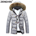 Men's Jacket Winter Fashion Overcoat 2017 New Arrival Zipper Slim Casual Style Thick Outwear Whole Sale 3 Colors