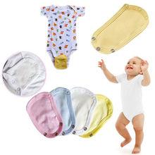 5pcs Baby Romper Partner Super Utility Bodysuit Jumpsuit Diaper Lengthen Extend Film Blue/White/Yellow/Pink #K4UE# Drop Ship