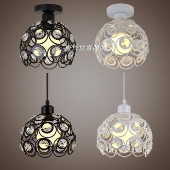 Kristall anhänger lampe individualität schlafzimmer lampe eisen kunst vogel  käfig drei esszimmer bar kleine hängende lampe schatten