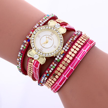 Traditional Fairly Full Diamonds Crystal Strap Leather-based Bracelet Wristwatches Wrist Look ahead to Girls Ladies Black Gold White