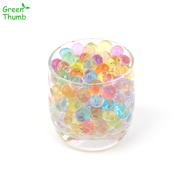 500pcs 11-13mm Pearl Shaped Polymer Crystal Soil Water Beads Mud Grow Magic Jelly Gel for Potted Plants Decoration