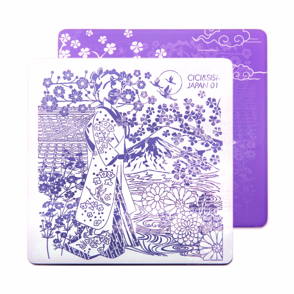 CICI&SISI Nail Stamping Template Images Printing Art Plates Stencil Cartoon Decals For Hand Nails Decoration Japan serie zko 60 sheets mixed styles diy decals nails art water transfer printing stickers for nails salon