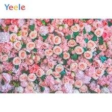Yeele Vinyl Pink Flowers Wedding Ceremony Photography Backdrop Children Birthday Party Photographic Background For Photo Studio