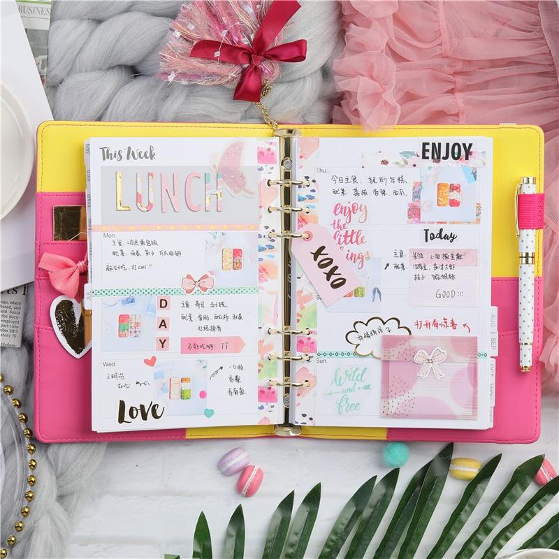 photo about A5 Planner Binder identify Lovedoki Sweet Colour Binder Laptop Specific Magazine Diary A5 Planner Routine 2018 2019 Organizer Stationery College Resources