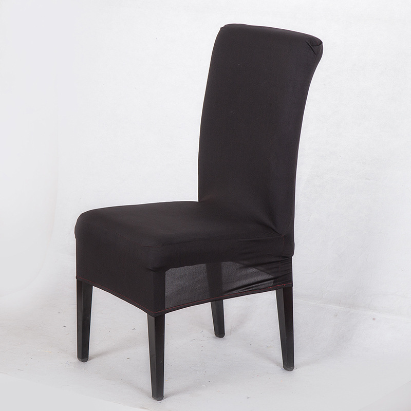 spandex housse chaise home decorative Black Chair Cover for dining room