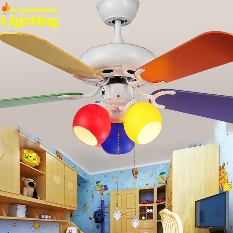 Colorful Kids Rooms: Aliexpress.com : Buy Colorful Children Kids Room Ceiling Fan With Lights Fans Wood Panel Blades