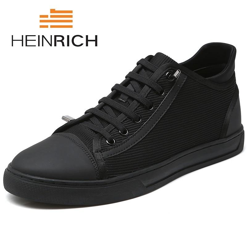 Генрих Лидер продаж Обувь с дышащей сеткой Для мужчин повседневная обувь Для мужчин модные кроссовки на шнуровке Сверхлегкий Открытый Мужс