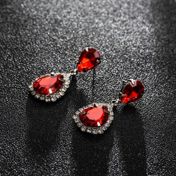 YFJEWE Bride Earrings Cosmetic Geo ZhaoHao Popular Rhinestone Crystal Drop Earring For Wedding Dress Fashion Baldpates  #E043 1