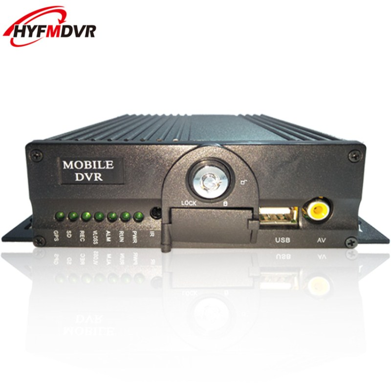 4CH dual SD card mdvr ahd720p coaxial on-board video recorder short air interface monitoring host ntsc/pal system video recorder multilingual operating interface taxi mdvr 4ch ahd monitoring equipment ntsc pal system
