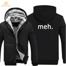 For Adult Geek Nerd Fashion Hoodies Men 2019 Winter Jackets Mens Warm Fleece Hip Hop Sweatshirts Thicken Coat