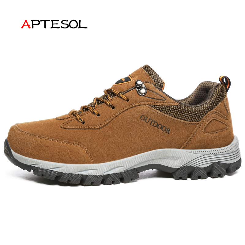 APTESOL Outdoor Non-Slip Running Shoes for Men Athletic Sport Run Sneakers Men's Damping Walking Jogging Shoes Size #39-$49