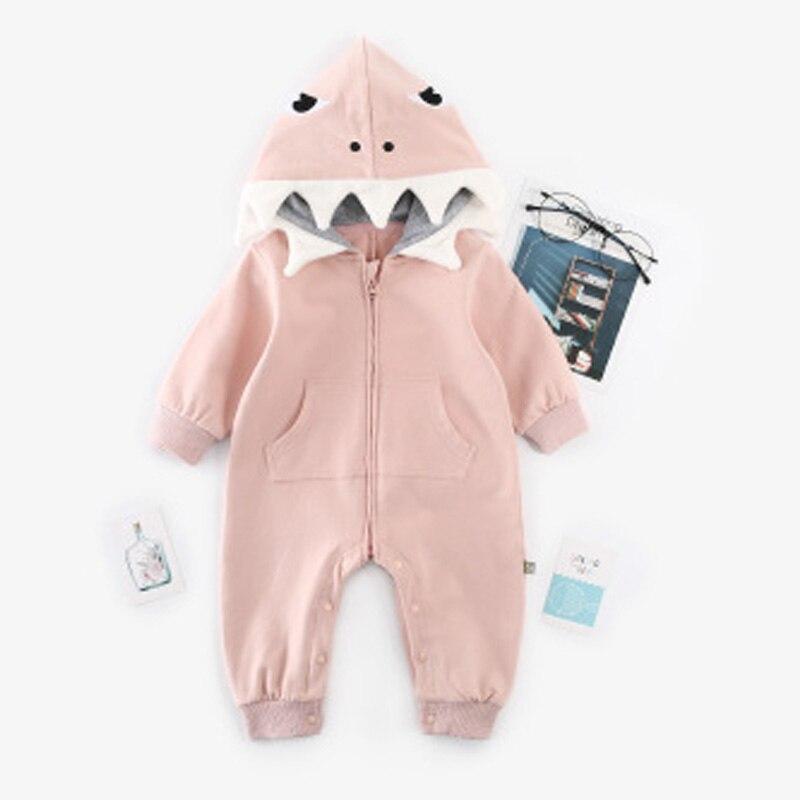 bf073c17f Newborn Infant Baby boy romper Hooded 3D shark dinosaur costume baby Cotton  halloween christmas animal jumpsuits onesie Kids | Soaringhawkonestopshop