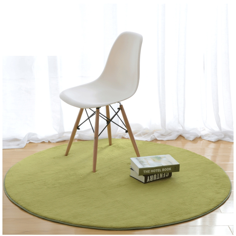 Diameter 2m Coral Fleece Soft Large Round Carpet Non Slip Floor Rug Chair Yoga Mat For Bedroom Living Room Home Supplies