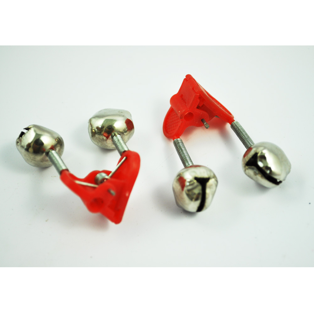 3 Pcs of (20pcs Night Fishing Rod Clamp Tip Clip Ring Fish Bait Alarm Bells Red Tone)