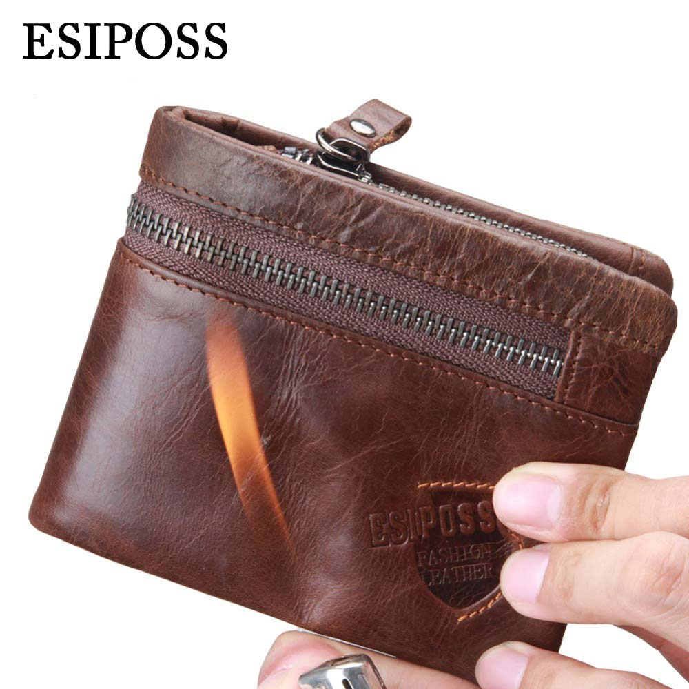 HOT Genuine Leather Men Wallet Luxury Brand Design Wallet for Men Best Cool Bifold Small Slim Money Clip Front Pocket Male Purse