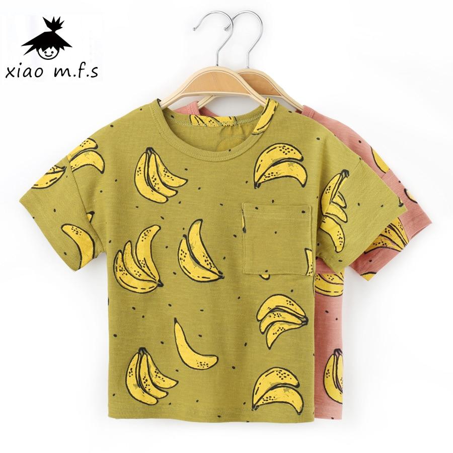 Pólók fiúknak 2017 Nyár Gyermek pamut pólók Nyomtatás Baba felsőruházat Ruházat Gyerekek 3T MFS-X8807