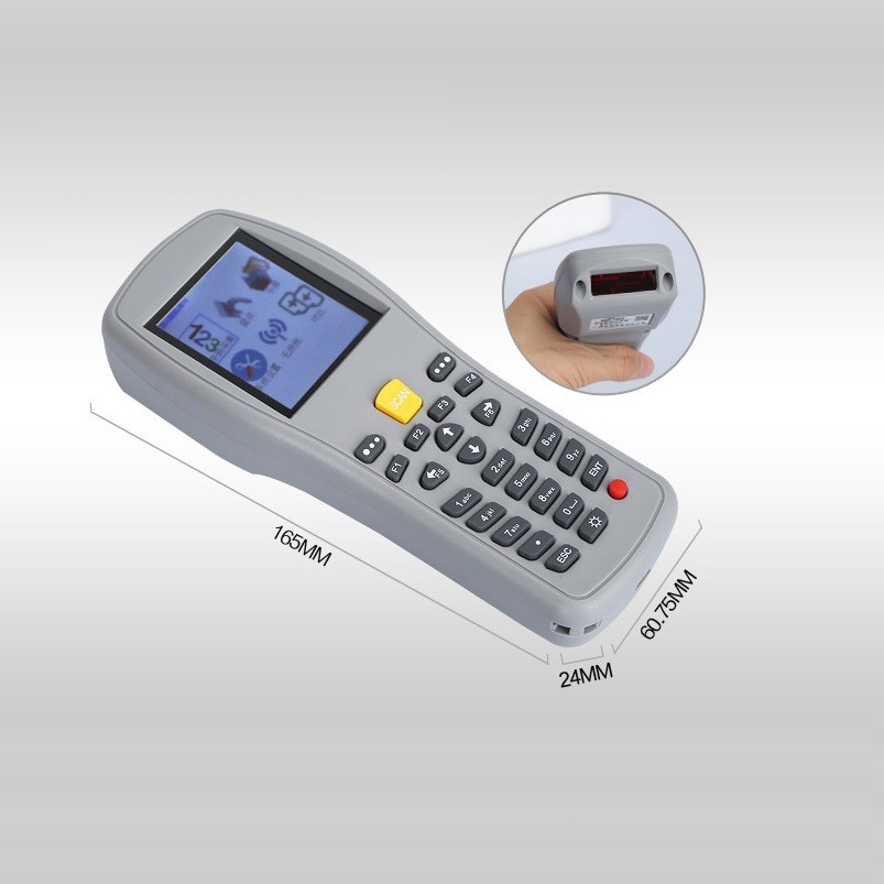 ФОТО Portable wireless barcode scanner reader handheld data terminal PDA for POS system and supermarket, bar code gun with storage