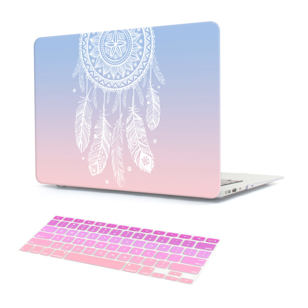 Plastic harde hoes met toetsenbordcover voor MacBook Air 13 11 Pro 13 15 Retina-display & Touch Bar Nieuwe 12 13 Inch Dream Catcher
