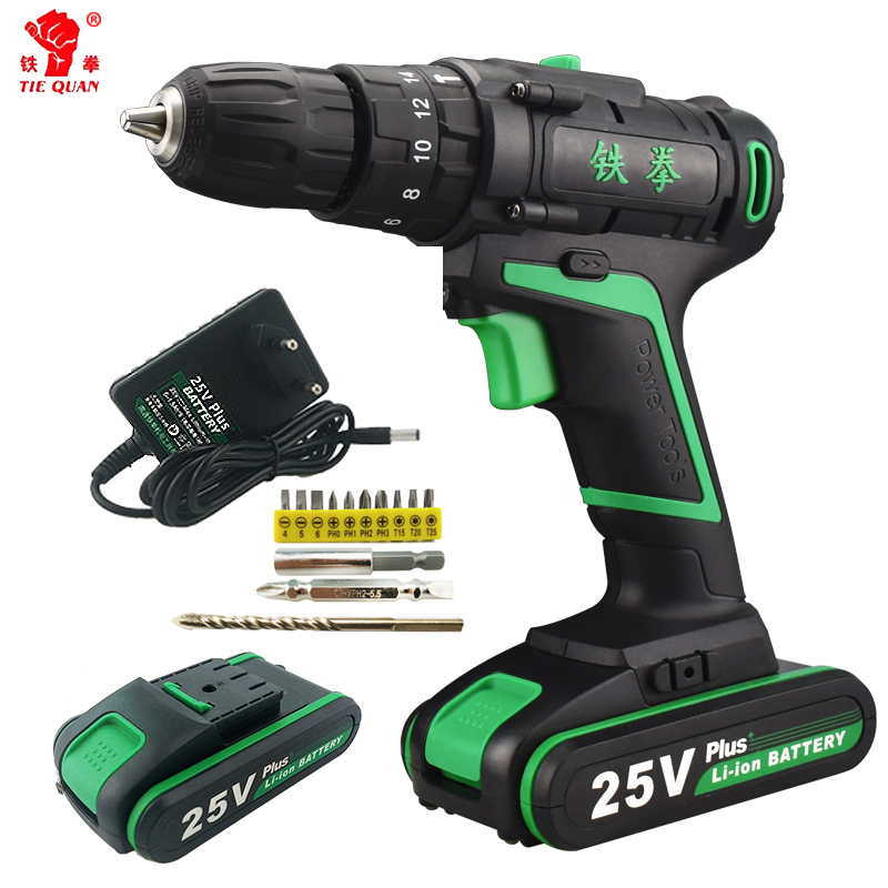 25V New Style Power Screwdriver Electric Tools Mini Speed Rotary Tool Drill Machine Screwdriver Cordless Li-ion Battery Tool Bit free shipping brand proskit upt 32007d frequency modulated electric screwdriver 2 electric screwdriver bit 900 1300rpm tools