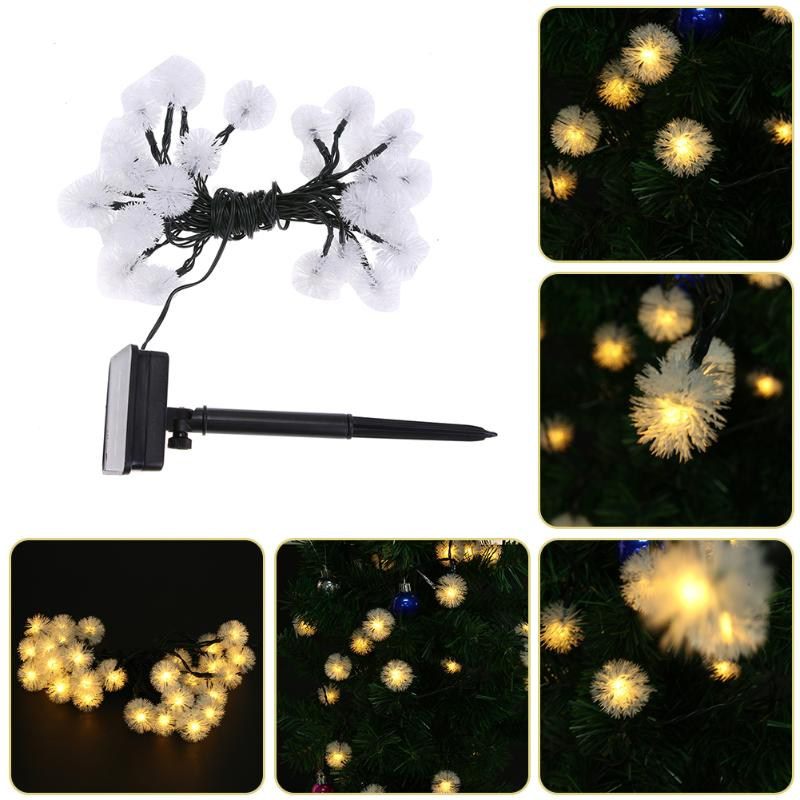 6.3 M 20 LED Solar String Fairy Lights Waterproof Solar Power Solar Lights for Outdoor Gardens Homes Christmas Party