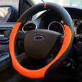 Sport Leather Steering Wheel Covers 4 Colors 38CM Car Cover Fit Most Styling Car-covers Auto Interior Accessories Volante Carro