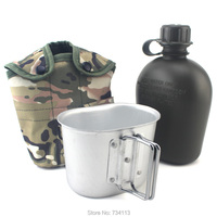 83cc6283bbe US bottle Creative Outdoor Military Outdoor Sports Hiking Camping Water  bottle with Aluminum Canteen Kettle and