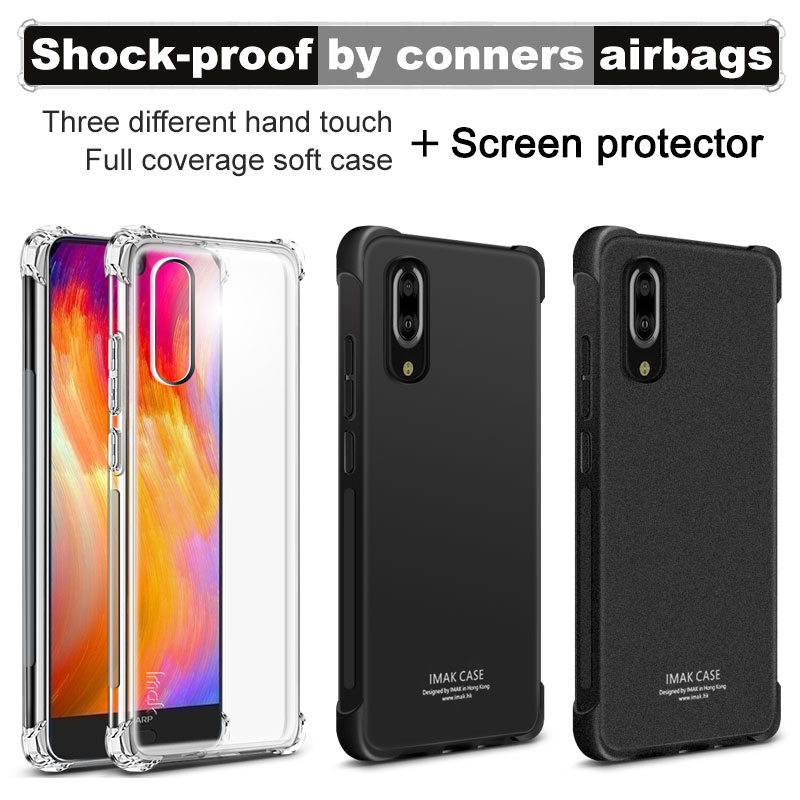 IMAK Corners Airbag Shock-Proof Case for Sharp Aquos S2 Soft TPU Case Cover for Sharp S2 Dual Full Cover Matte Case Screen FilmIMAK Corners Airbag Shock-Proof Case for Sharp Aquos S2 Soft TPU Case Cover for Sharp S2 Dual Full Cover Matte Case Screen Film