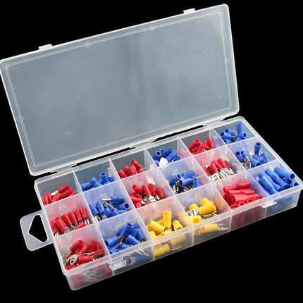 330pcs Assorted Insulated Male and Female Terminals Wire Ferrules ...