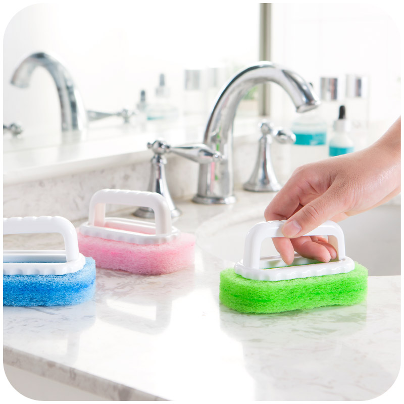 household cleaning supplies for kitchen bathroom plastic dirts brush handle sponge brush tile. Black Bedroom Furniture Sets. Home Design Ideas