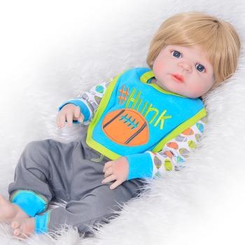 Newborn Doll 23'' Reborn baby doll Vinyl Full Body silicone modeling Fashion Reborn Dolls Boy reborn Xmas Gifts Wear Clothes