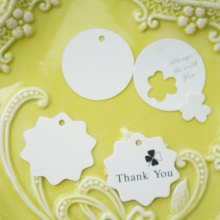 thank you paper labels 100pcs Clover design packaging decoration tags birthday party new year